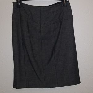 Pencil skirt with small side slit